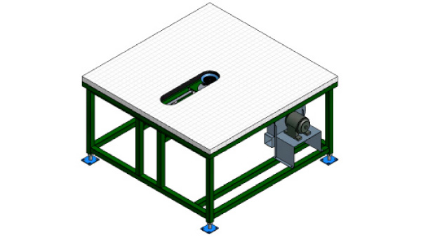 Grid Application Table With Air Float Wakefield Equipment